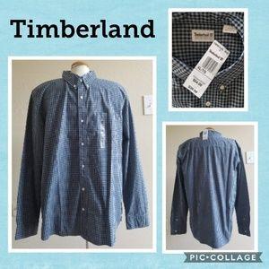 Timberland button up shirt 2 shades of blue XL